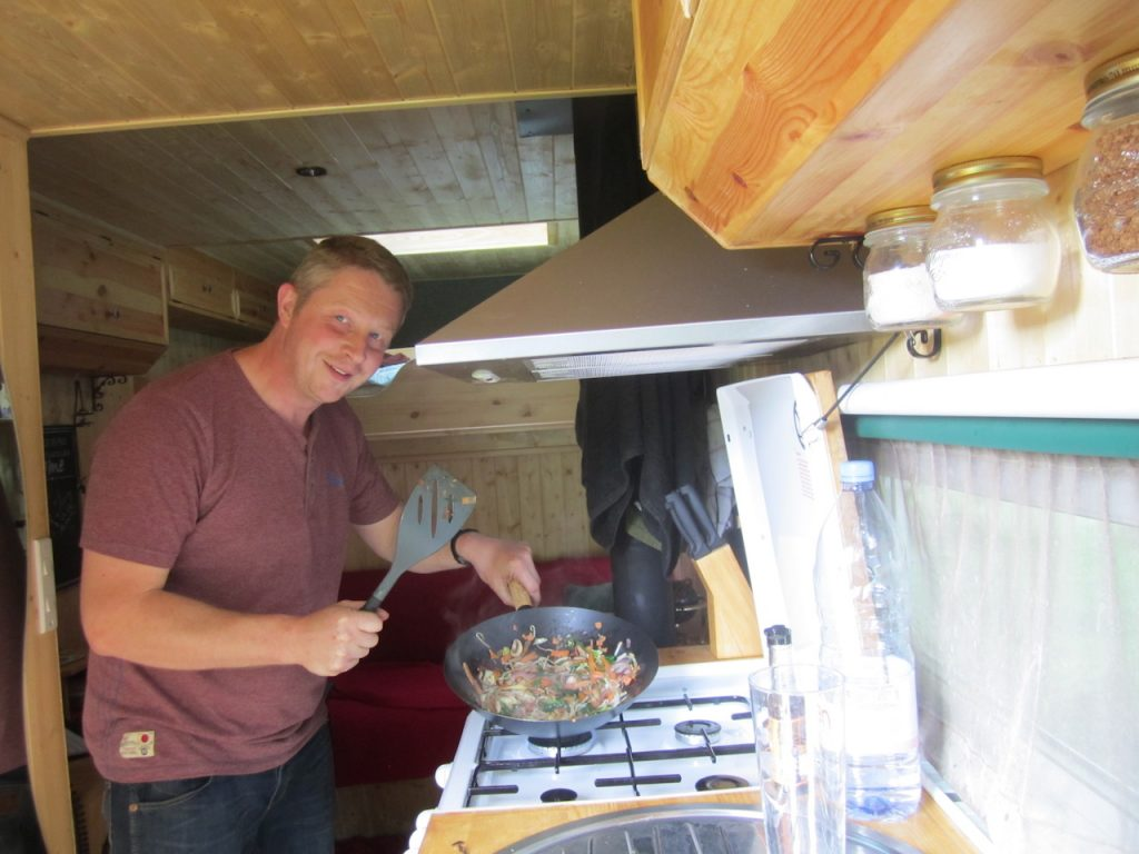 Cooking in a van